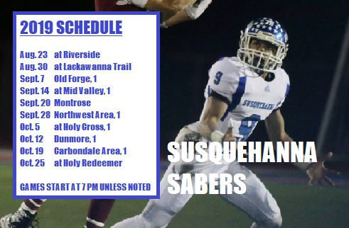 Football Player with a schedule of games.