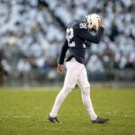 Penn State kicker walks off the field