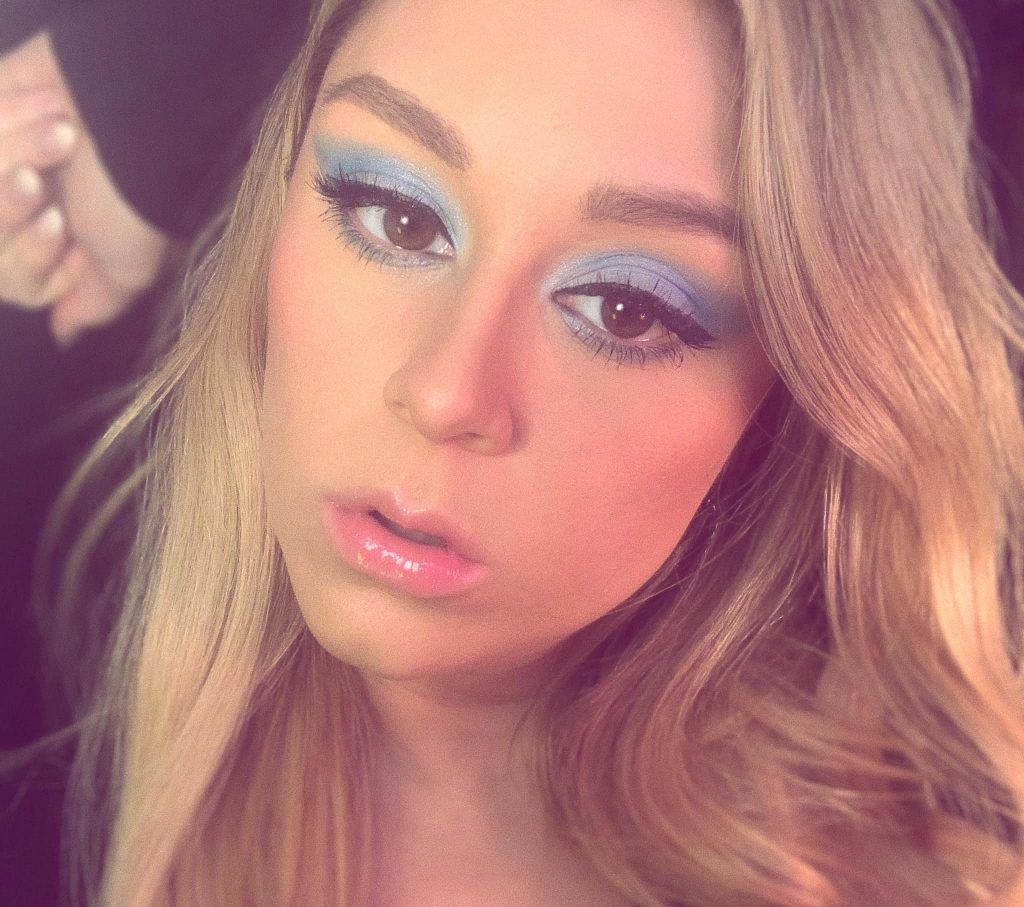 woman with blue eyeshadow