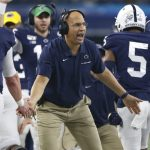 James Franklin congratulating players
