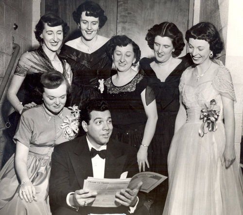 Man with a group of women