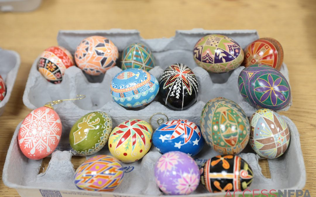 Out&About at Pysanky egg class at Abington Community Library