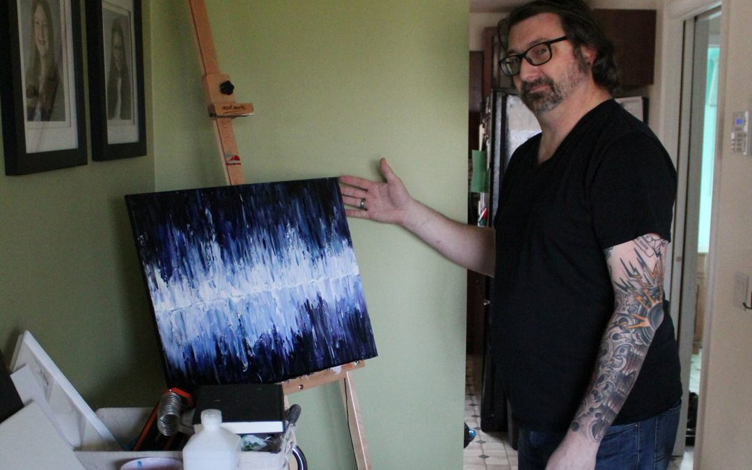 Local artist gets back to painting